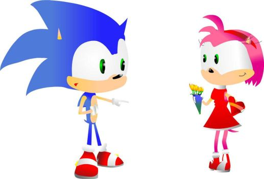 Sonic is Amy Rose's Valentine by cerealcam