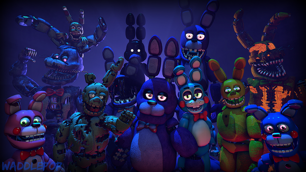 Bonnie Generations [SPEEDART] by witheredfnaf