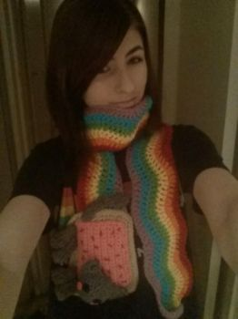 Nyan Cat Scarf from Etsy by MickeyTaei