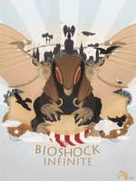 Bioshock Infinite Poster (+ video making of) by Slaizen