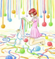 Colorful ribbons by starca