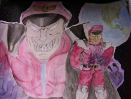 M.Bison Watercolor by Jetultra