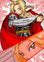 Edward Elric in red by kamapon