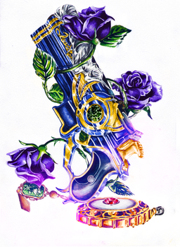 GunZ with Roses / Love is Blue by AnnaPostal666