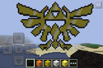 Minecraft Art: Royal Crest of Hyrule by GodofDarness18