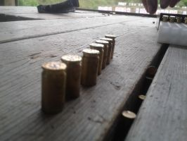 Range Day - Spent 9mm by TheWarRises