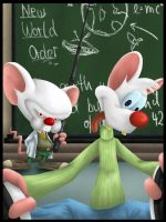 Pinky and Brain Master of NWO by Assija