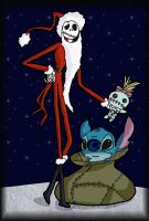 Jack Skellington and Stitch by andy-pants
