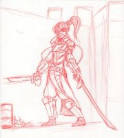 ShadowRun - Street Samurai Elf by HJTHX1138