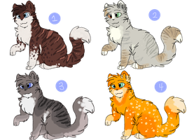 Cat Adoptables 14 - CLOSED by CascadingSerenity