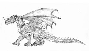 Blue Dragon - D4e by hypergojira