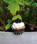 Vanilla and Blackberry Mini Cupcake by moccacooky