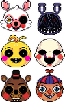 free FNAF2 icons! by RRRAI