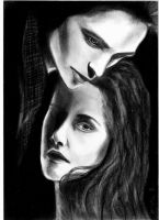 Bella and Edward by bloodyevilfairy