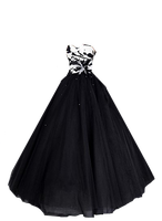 Black Ball Gown 2 PNG by Vixen1978