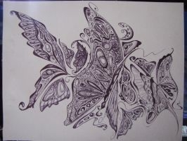 Psychedelic Butterfly WIP by prettypunkae
