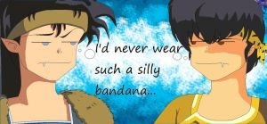 Koga and Ryoga - Silly Bandana by lunargift