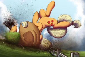 Applejack Tackles A Tree by NCMares