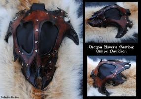 Dragon Slayer: Pauldron by Epic-Leather