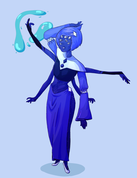Blue Diamond Court fusion - Blue Azurite by Williblom