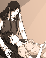 Rin and Waver by KeyHof