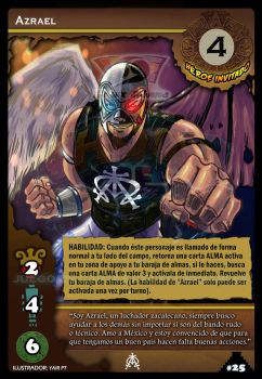 Azrael in a card game??!! by Azrael-Luchador