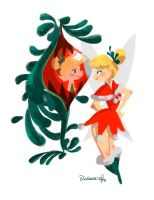 Christmas Tink by victoria-ying