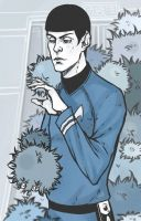 Spock and Tribbles by Pterek