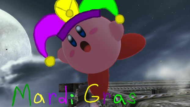 Kirby wishes you a Mardi Gras day by user15432
