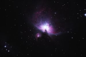Messier 42, The Great Orion Nebula at Fort Griffin by phrostie