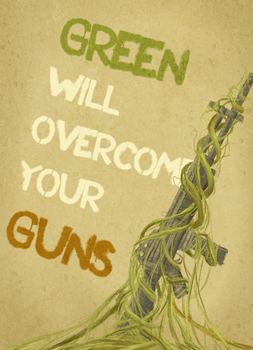 Support Iran: Green over Guns by lalalietta