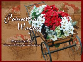 Poinsettia Wagon PACK by themuseslibrary
