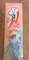 Bookmark with Rainbow Dash by Lovela-in-love
