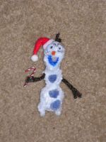 Christmas Olaf by fuzzyfigureguy