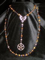 Fire pagan rosary by redLillith