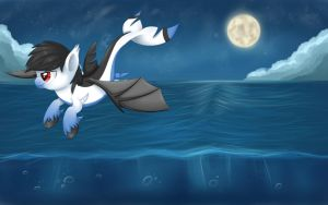Commission:Midnight Flight by Cloudy-Dreamscape