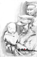 Group III Soldiers N Baby by arthim