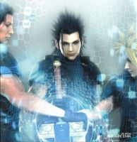 Cloud, Zack, and Angeal by AmeliaKader