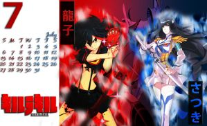 Anime Calendar for July, Kill La Kill by ThePhantomsLegend