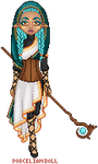 turquoise clothed mage by porcelian-doll