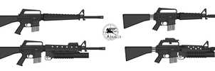 Armalite AR Family by GeneralTate