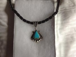 Onyx and Turquoise necklace by Doomsday71