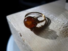 Mexican Fire Agate ring by cRavE-12