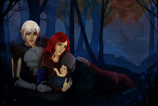 Commission: Hakwe and Fenris by myks0