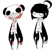 OC: poppet the panda killer by loriluna