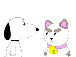 Snoopy meets Puppycat by MarcosLucky96