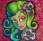 Day of the Dead Girl 1 by The-Kreep