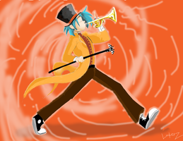 Scottie's One Man Band Color by ChibiBatGraphics
