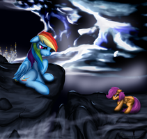 Come on, one little jump. I'll catch you. by Leyanor