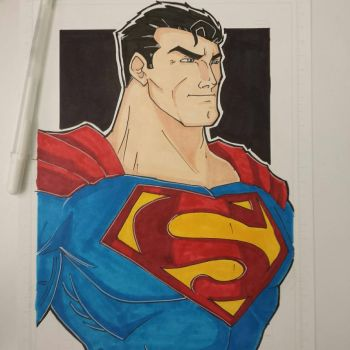 Superman with color finished. by drtidigler